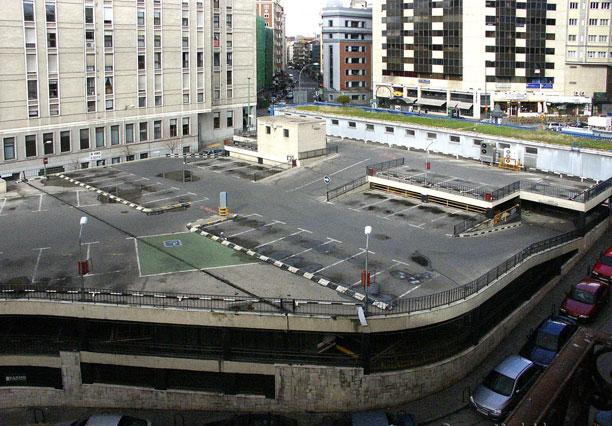 el antiguo aparcamiento de la Plaza de Santo Domingo